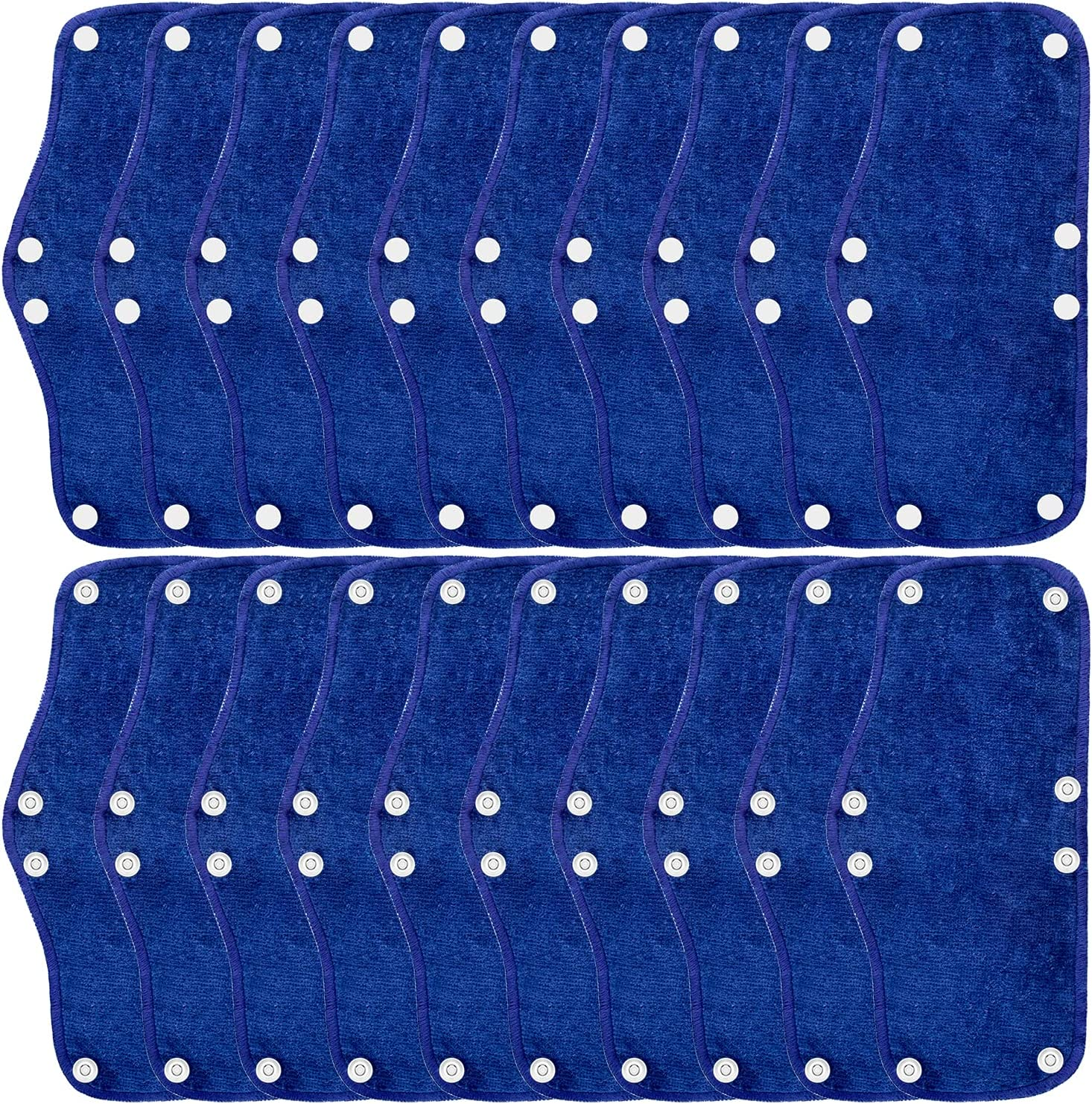 20 Pieces Blue Hard Sweatband Same Max 78% OFF day shipping Hat Washable Liner