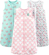 Simple Joys by Carter's Baby Girls' Multi-Pack Cotton or Microfleece Sleepbags
