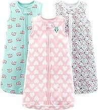 Simple Joys by Carter's Baby Girls' Multi-Pack Cotton or Microfleece Sleepbags