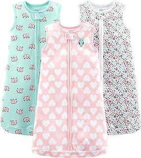 Simple Joys by Carter's Girls' 3-Pack Cotton Sleeveless Sleepbag Wearable Blanket