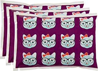 Bentology Kids Ice Packs for Lunch Boxes - 3 Reusable Packs Keeps Food Cold in Lunchboxes & Coolers - Non-Toxic, Safe, Durable - Kitty