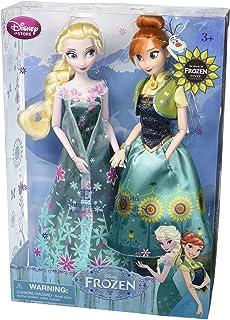 Disney Frozen Fever Anna and Elsa Dolls Summer Solstice Gift Set 12''