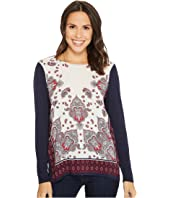 Tribal Long Sleeve Printed Combo Front Top
