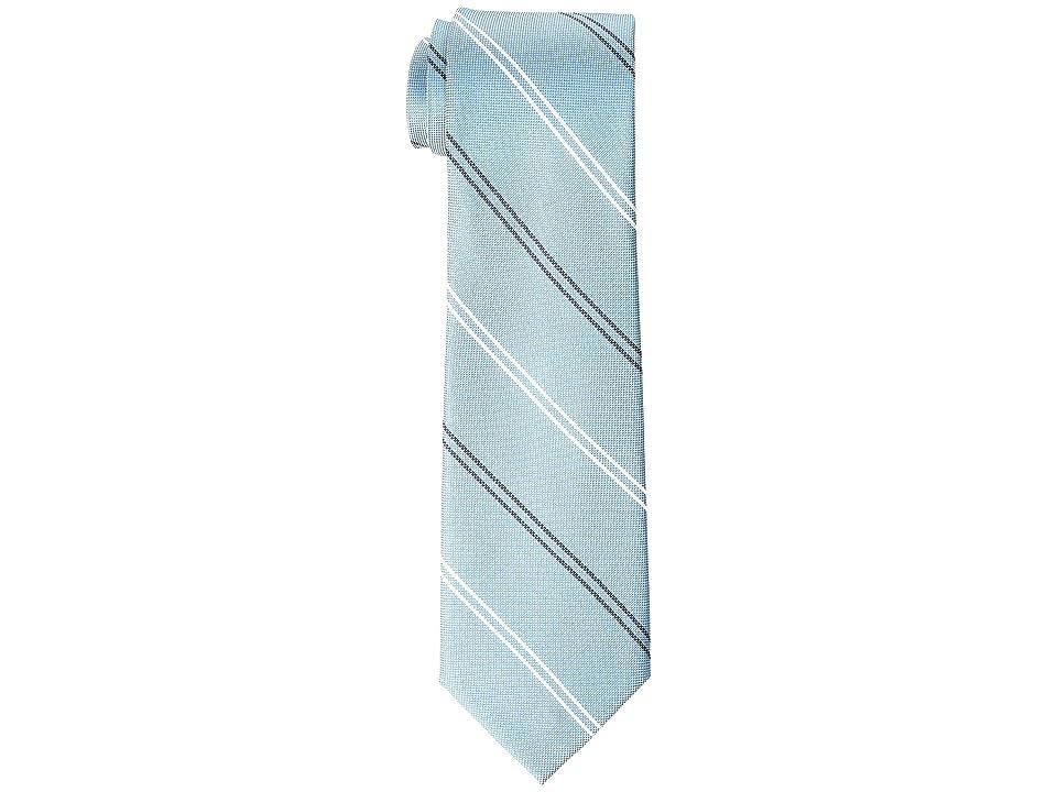 Tommy Hilfiger Uptown Stripe (Aqua) Ties, Blue