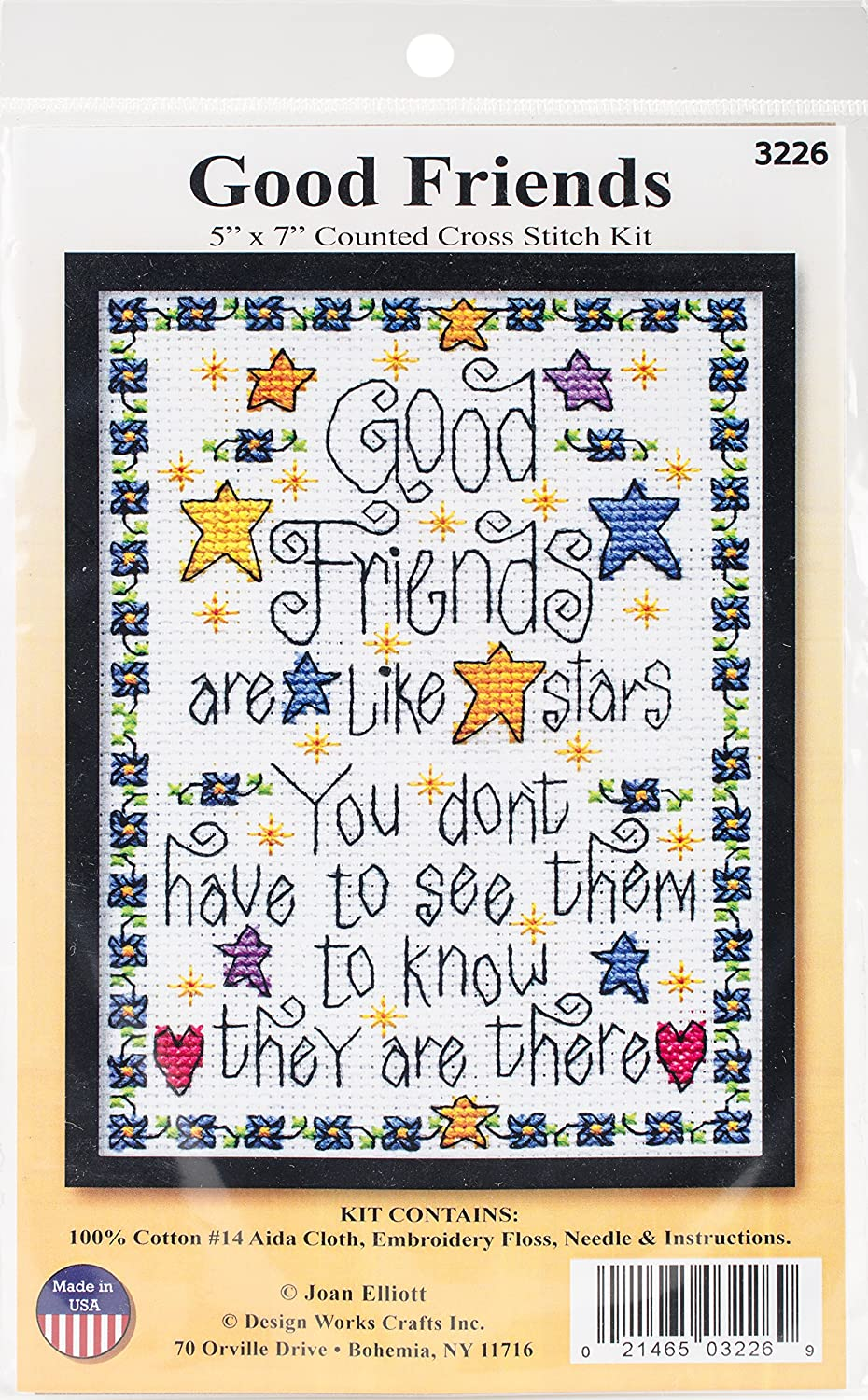 Tobin Good Friends 5 x Over Sale SALE% OFF item handling 7'' Counted Stitch Cross Kit Multicolou