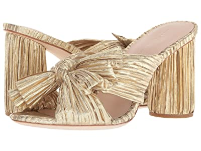 Loeffler Randall Penny Pleated Knot Mule (Gold Pleated Lame) Women