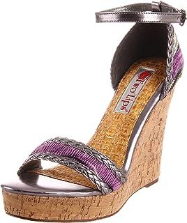 Two Lips Women's Pashmina Wedge Sandal