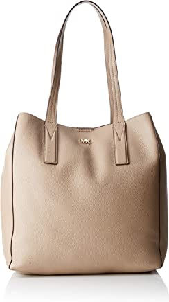 aa1d8f5440d2 Michael Kors 30T8TX5T3L 208 Junie Large Pebbled Tote Bag for Women -  Leather, Beige