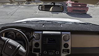 Angry Elephant Black Carpet Dashboard Cover- FITS 2015-2019 Ford F-150 Without Forward Collision Warning. Custom Fit Dash Cover, Easy Installation