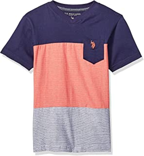 Boys' Short Sleeve Reverse Mini Stripe T-Shirt