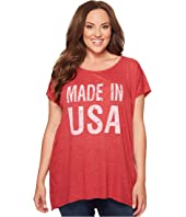 Allen Allen - Plus Size Made in USA Cap Sleeve Tee