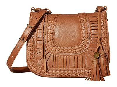 The Sak Canyon Saddle Bag by The Sak Collective (Tobacco Whipstitch Lacing) Handbags