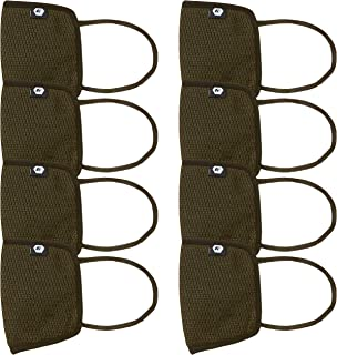Fort Collins Unisex Cotton Face Mask (Pack of 8) (125_Olive_One Size)