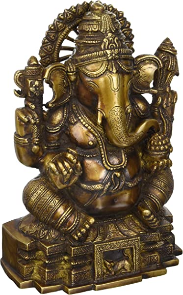 Ganesh Statue 11 Inches Brass Statue Of Hindu God Ganesha Or Lord Ganpati Bappa For Your Home By Lotus Sculpture Imported From India