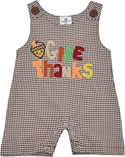 boy smocked thanksgiving outfit