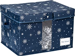 Honey-Can-Do SFT-08586 Deluxe Holiday Storage Box, Navy
