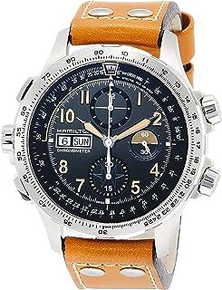 Hamilton - Reloj de Hombre automático 45mm Correa de Cuero dial Negro H77796535