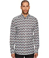 Slim Fit Geo Army Print Shirt