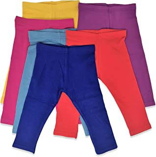 Boys Girls Toddler Little Kids Unisex 6 Pack Cotton Stretch Snug Fitting Long Pant Leggings