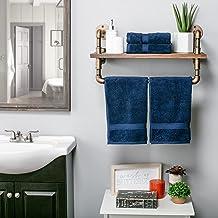 مجموعة مناشف الحمام من سوبريور أكسسوارات الحمام، 4 قطع يد، أزرق داكن، 4 قطع