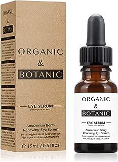 Organic & Botanic Amazonian Berry Renewing Eye Serum, 30ml. Premium Vegan Skincare For All Skin Types. Made In The UK.