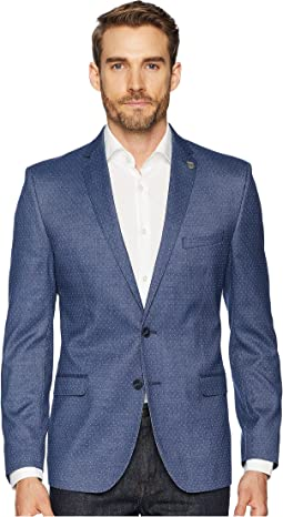 Blue Pin Dot Slim Fit Blazer
