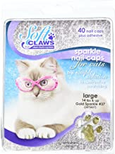 Soft Claws for Cats, Size Large, Color Gold Glitter