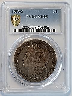 1893 S Morgan Silver Dollar $1 VG-08 PCGS