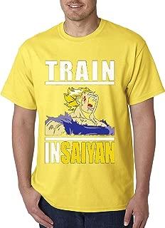 292 - Unisex T-Shirt Train Insaiyan Gym Workout Goku DBZ Dragon Ball Z