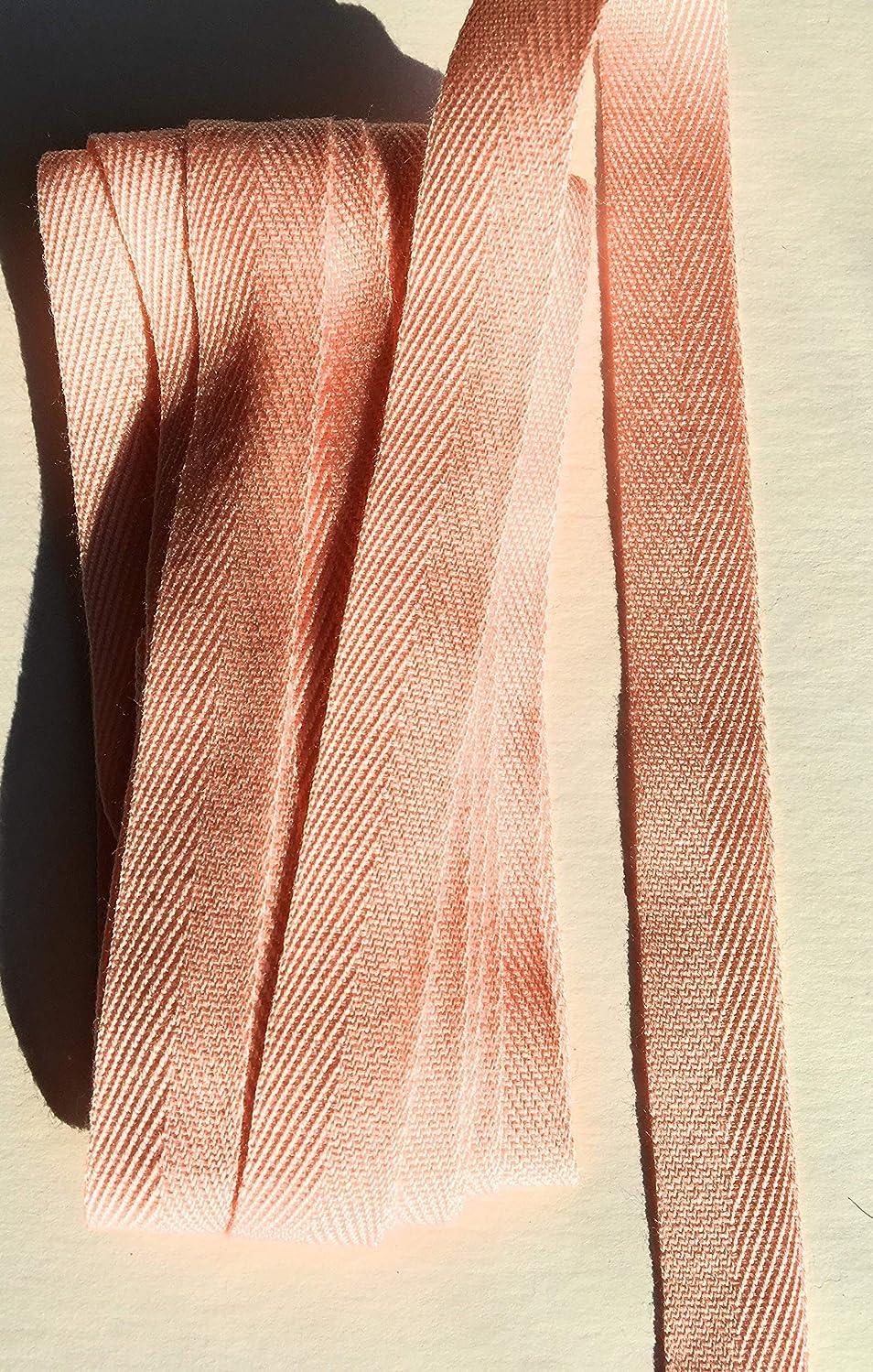 3/8'' 10 mm Lt Coral Twill Tape Ribbon Trim 6 Yards - Twill Tape, (Lt Coral)