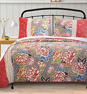 Barefoot Bungalow Gypsy Rose Quilt Set, 3-Piece Full/Queen, 4