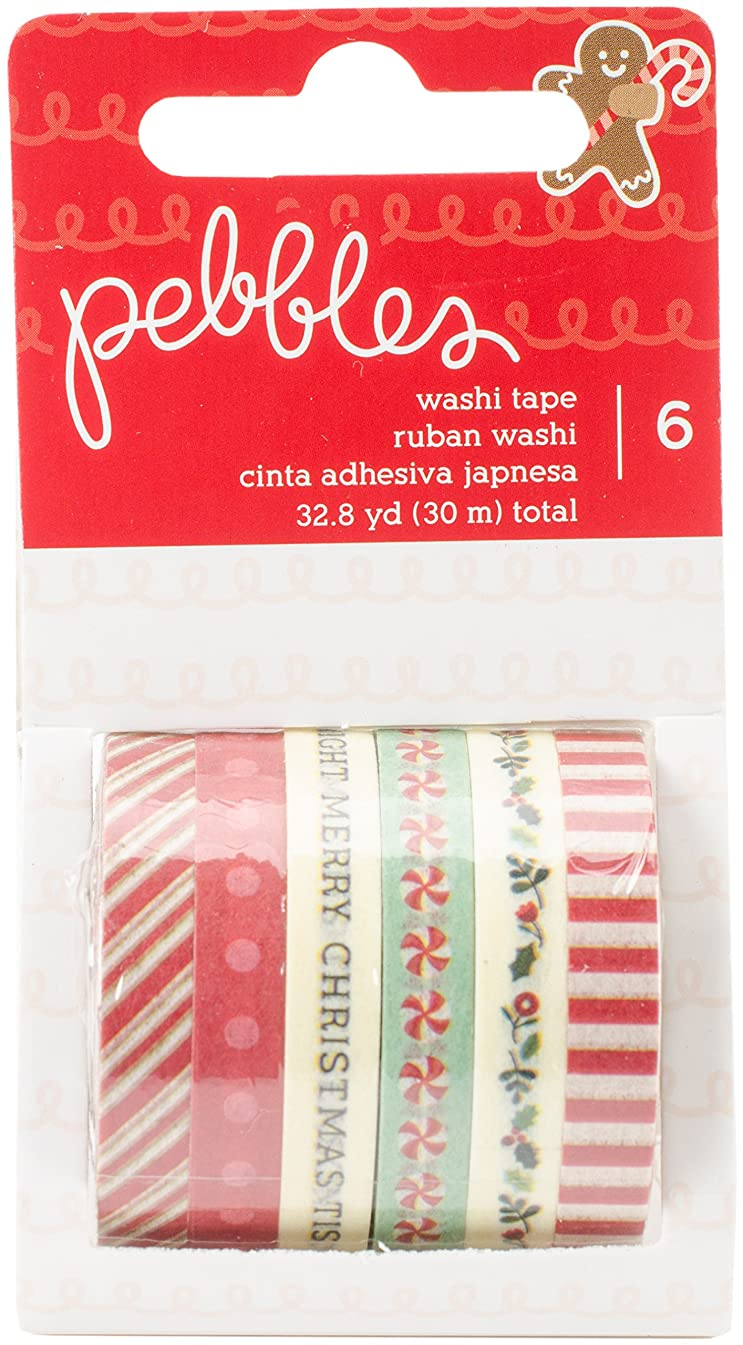 American Crafts Pebbles Merry 6 Piece Washi Tape
