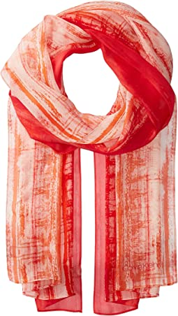 Calvin Klein - Painterly Stripe Silk Scarf