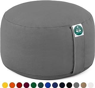 Present Mind Cojín de meditación Yoga – Altura 20 cm - Funda de algodón Lavable…