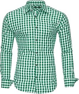 Kayhan Camisas Hombres Camisa Hombre Manga Larga Ropa Camisas de Vestir Slim fácil de Hierro Fit S M L XL XXL-6X - Modello...