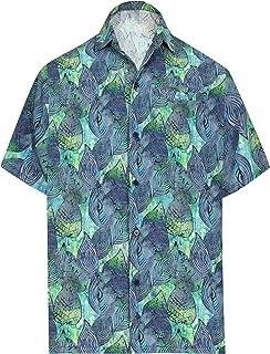 HAPPY BAY Men's Relaxed Golf Hawaiian Shirt Beach Camp Aloha Shirt 3D Printed