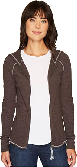 Dylan by True Grit - Heathered Soft Slub Waffle Zip Jacket