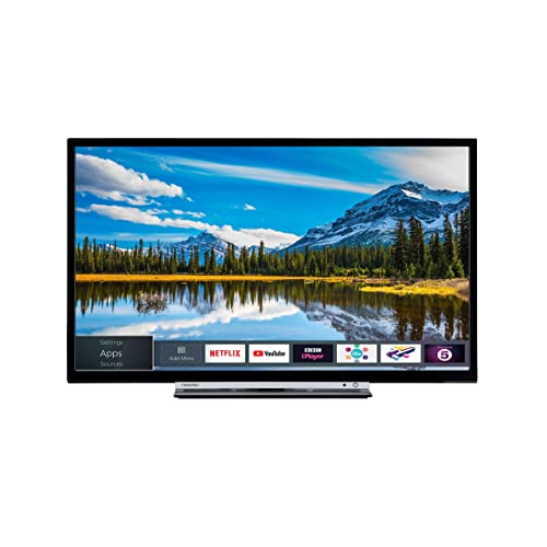 Toshiba 32-Inch Smart Full-HD LED TV with Freeview Play - Black/Silver (2018 Model)