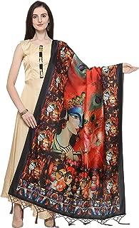 J B Fashion Women's Silk (Dupatta-21_Multicoloured_Free Size)