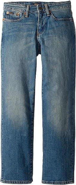 Polo Ralph Lauren Kids Hampton Straight Stretch Jeans (Big Kids)