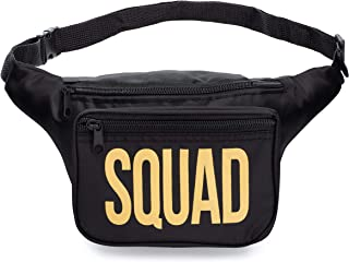 Fun Squad Fanny Packs - Cute Fanny Packs, Water Resistant (Squad (1 Pack))
