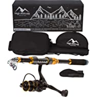 High Altitude Brands Lightweight Portable Telescopic Fishing Pole, Case and Available with...