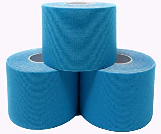 Kinesiology Tape - Therapeutic Sport K Tape roll for Athletes and Therapists - 2 inch x 16.4 feet Rolls (3 Rolls)