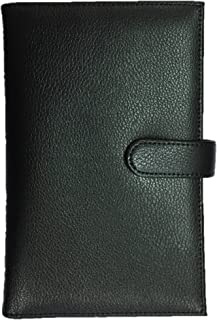 Genuine Leather Passport Holder – protect biometric passports and chip credit cards (Black)