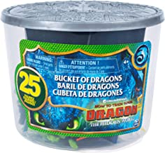 How to Train Your Dragon 3: The Hidden World Bucket of Dragons with 25 Mini Dragon and Human Figures Including Toothless, Hiccup, Astrid, Deadly Nadder, Gronckle, Monstrous Nightmare, Zippleback