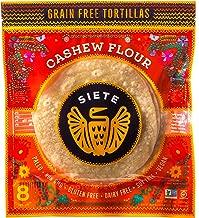 Siete Cashew Flour Grain Free Tortillas, 8 Tortillas Per Pack, 6-Pack, 48 Tortillas