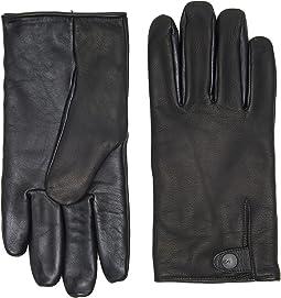 UGG - Leather Smart Gloves Snap Detail