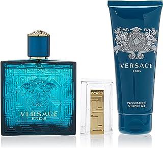 Versace Eros Set de Agua de Colonia Gel de Ducha y Clip para Dinero - 200 ml