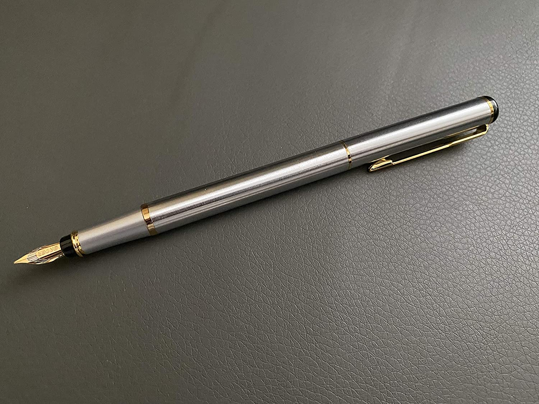 Pen Black Ink Cartridges, Baoer 801 Pen in Black Finish Jinhao Baoer 801 Luxury Executive Polished Black Steel Fountain Pen Writing Set 5pk BLACK Cartridges...
