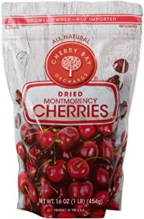 Cherry Bay Orchards - Dried Montmorency Tart Cherries - 16 oz Bag 100% Domestic, Natural, Kosher Certified, Gluten-Free, a...